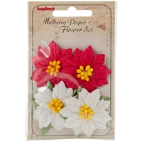 Εικόνα του Mulberry Paper Poinsettias 4/Pkg