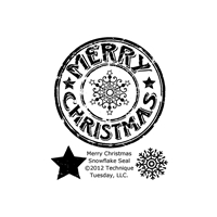 Picture of Σετ Σφραγίδες Clear - Merry Christmas Snowflake Seal