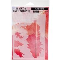Εικόνα του Brett Weldele Stencils - Flames