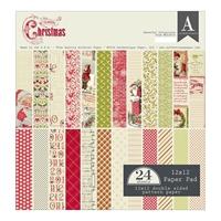 Εικόνα του Authentique Double-Sided Cardstock Pad 12X12 - Classic Christmas