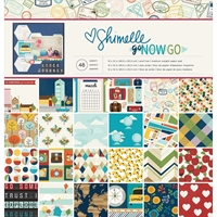 Εικόνα του American Crafts Single-Sided Paper Pad 12X12 - Shimelle Go Now Go