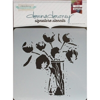Picture of Donna Downey Signature Stencils - Poppy Stems