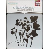 Εικόνα του Donna Downey Signature Stencils - Je t'aime