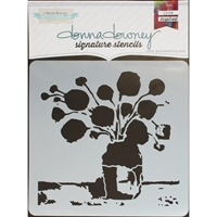 Εικόνα του Donna Downey Signature Stencils - Flowers In Vase #2