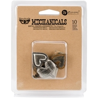 Picture of Mechanicals Metal Embellishments - Tin Hearts