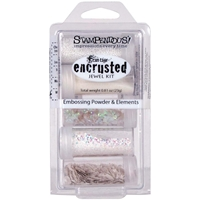 Picture of Stampendous Encrusted Jewel Embossing Powder & Elements - White