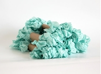Εικόνα του Shabby Crinkled Seam Binding Ribbon - Mint Green