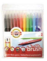 Picture of Koh-i-Noor Fibre Tipped Brush Marker Pens