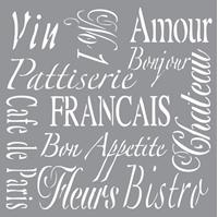 Εικόνα του Στενσιλ French Living - Americana Decor 30.5 x 30.5 cm