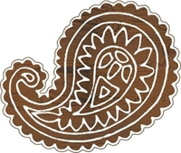Εικόνα του Fabric Creations Block Printing Stamps - Medium Paisley
