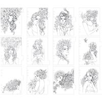 Εικόνα του My Prima Planner Coloring Tabbed Dividers - Flowers In Her Hair