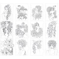 Εικόνα του My Prima Planner Coloring Tabbed Dividers - Fairies & Flowers