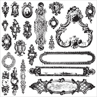 Picture of Iron Orchid Designs Decor Clear Stamps  - Hardware