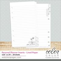 Εικόνα του Color Crush Personal Planner Paper Inserts - Lined