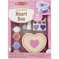 Picture of Decorate Your Own Wooden Chest - Heart