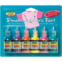 Picture of Scribbles 3D Fabric Paints 1oz Set of 6 - Iridescent