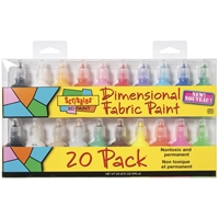 Picture of Scribbles 3D Fabric Paints 1oz Set of 20 - Shiny