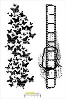 Εικόνα του Cling Stamp XXL - Négatif et Papillon