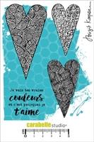 Εικόνα του Cling Stamp A6 - Σφραγίδες - C'est pourquoi je t'aime by Birgit Koopsen