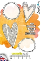 Picture of Cling Stamp A6 - Hearts & Pebbles by Zorrotte