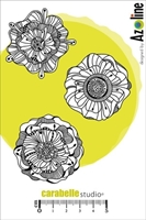 Picture of Cling Stamp A6 - Fleurs d'Azoline Les Pomponettes by Azoline