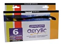 Εικόνα του Σετ 6 Ακρυλικά Χρώματα Daler Rowney Graduate Acrylic Paint Set - Primary Colors