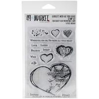 Εικόνα του Σετ Σφραγίδες Clear 49 & Market 10 X 15 - With All Your Heart