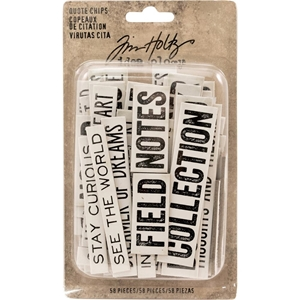 Picture of Idea-Ology Chipboard Quote Chips - Word and Phrases