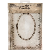 Picture of Idea-Ology Worn 2-Ring Binder - Tattered Printed Fabric Cover