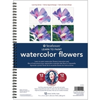 Picture of Strathmore Learn To Paint Wire Pad - Watercolor Flowers