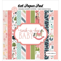 Picture of Carta Bella Double-Sided Paper Pad 6X6 - Rock-A-Bye Baby Girl