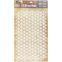 "Εικόνα του 7 Gypsies Architextures Adhesive Tall Base 9""X6"" - Triangle Grid"