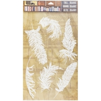 "Εικόνα του 7 Gypsies Architextures Adhesive Tall Base 9""X6"" - Feathers"