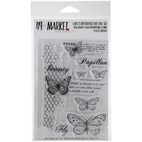 "Picture of 49 & Market Clear Stamps 4""X6"" - Gabi's Butterflies Are Free"