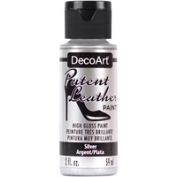 Εικόνα του DecoArt Patent Leather Paint - Silver