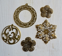 Picture of Filigree Embellishment Assortment - Old Brass