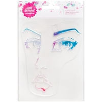 Picture of Jane Davenport Mixed Media Acrylic Stamps - Single Face