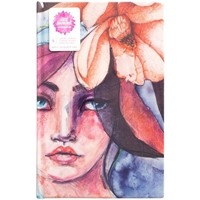 "Picture of Jane Davenport Mixed Media Canvas Cover Journal 9""X6"" - Girl"