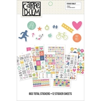 Εικόνα του Carpe Diem A5 Stickers - Fitness