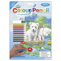 "Picture of Royal & Langnickel Color Pencil By Number Kit 8.75""X11.75"" - Westie Puppies"