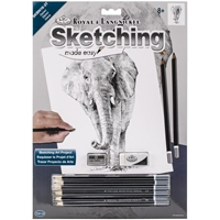 "Picture of Royal & Langnickel Sketching Made Easy Kit 9""X12"" - Elephant"