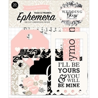 Picture of Echo Park Carina Gardner Wedding Bliss Ephemera Cardstock Die-Cuts - Frames & Tags
