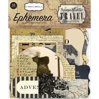 Picture of Carta Bella Transantlantic Travel Ephemera Cardstock Die Cuts - Icons