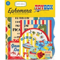 Εικόνα του Carta Bella Toy Box Ephemera Cardstock Die Cuts - Icons