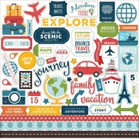 Picture of Echo Park Lori Whitlock Go, See, Explore Cardstock Stickers - Elements