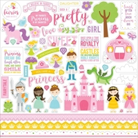 Picture of Echo Park Lori Whitlock Perfect Princess Cardstock Stickers - Elements