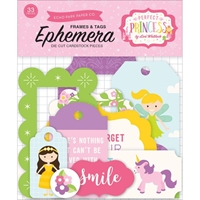 Picture of Echo Park Lori Whitlock Perfect Princess Ephemera Cardstock Die Cuts - Frames & Tags