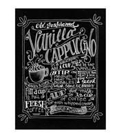 Picture of Chalkboard Canvas Print - Vanilla Cappuccino