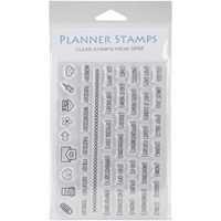 "Picture of SRM Planner Clear Stamps 4""X6"" - Notes To Self"