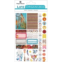 Εικόνα του Paper House Life Organized Planner Stickers - Free Spirit
